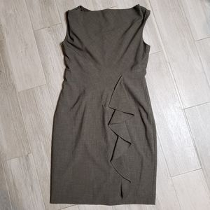 Calvin Klein gray dress. Zips in back.